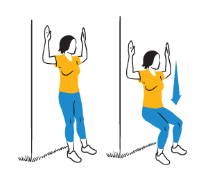 Illustration: Wall Slide exercise.