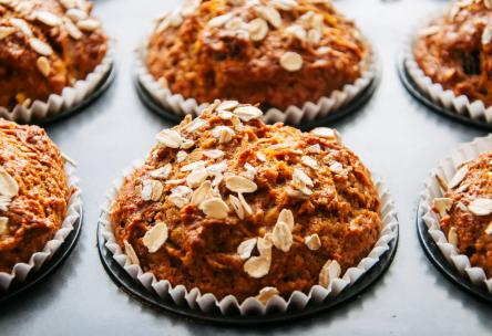 Photo: Carrot Raisin Muffins.