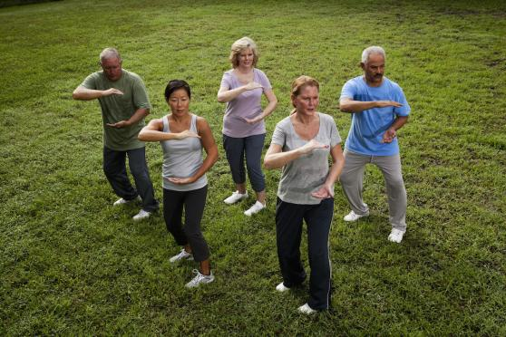tai chi outside