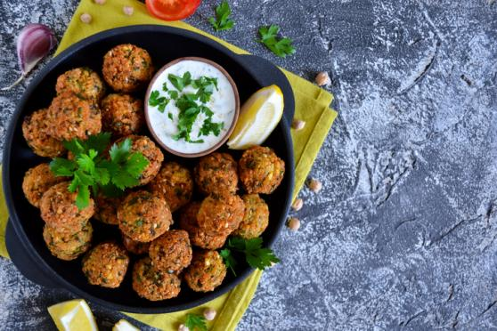 Falafel with a Lemon Tahini Dressing