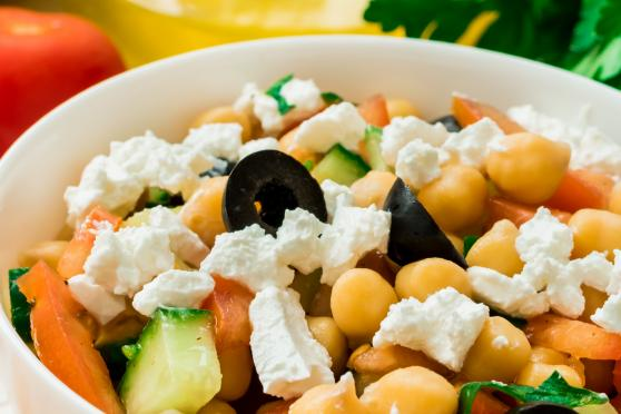 Chickpea Bean & Feta salad