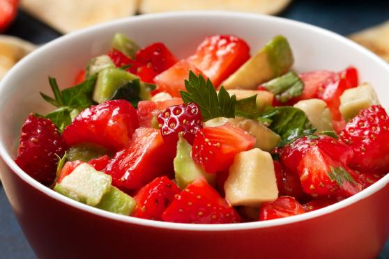 Strawberry & Avocado salsa