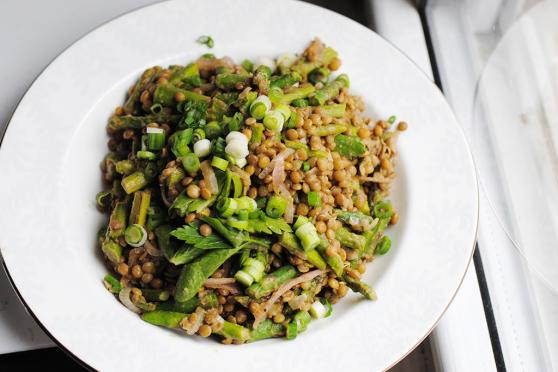 Asparagus and Pea Shoot Salad