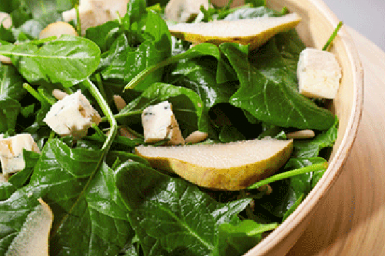 Winter Greens, Squash and Peeled Pear Detox Salad